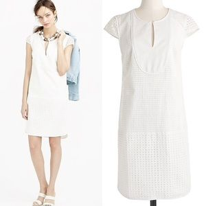 J. Crew white triple eyelet shift dress